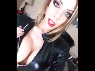 The Perfect Dominatrix Models Her Catsuit