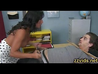 Hot teacher lezley zen fucks with student