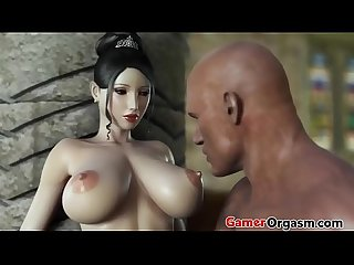 GamerOrgasm.com | Beauty Princess and The Wild Big Cock