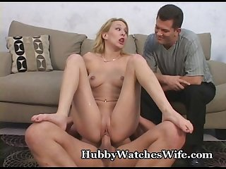 Hubby Watches Wife's Intense Orgasms