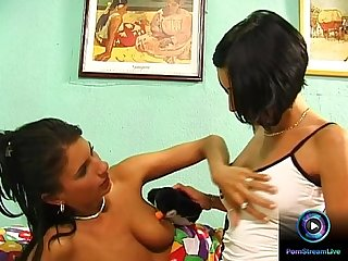 Two horny hotties fingering and licking each others to orgasm