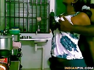 Indian couple fucking in the kitchen
