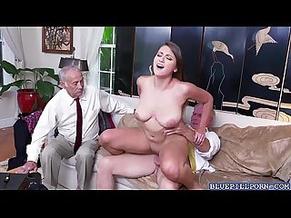 Hot babe ivy rose banging with old neighbor