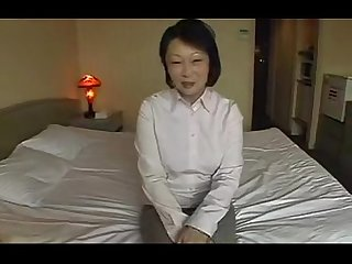 Asian mature masturbate and fuck pov action