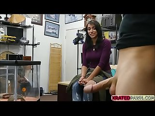 Desperate latina babe jessi gets her pussy fucked in the office