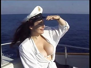 Jessica Rizzo fucked by a black cock in a boat
