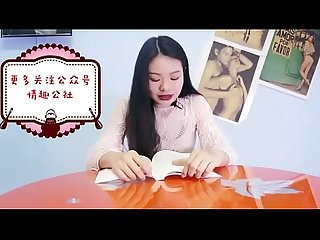 chinese girl having orgasm while reading