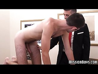 Mormon elder gets pounded doggystyle by a hairy twink