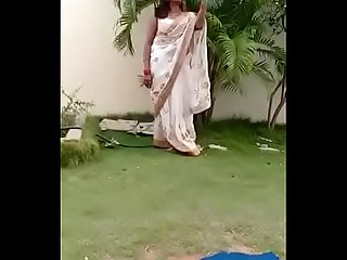 Swathi naidu saree dropping part-3 short film shooting