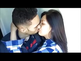 Indian sexy college couple passionate kissing lip locks boobs groping blue bra