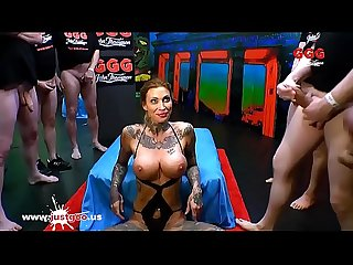 Tattooed Calisi Ink Sucks a Train of dicks - German Goo Girls