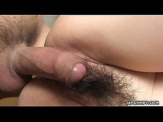Asian slut with a hairy muff getting banged by her man