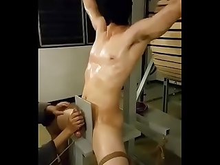 handjob for Asian slave