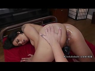 Asian masseuse gets anal fisting