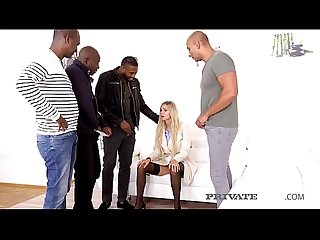 PrivateBlack - Crying Blonde Florane Russell DP'd By 4 BBCs!