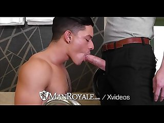 ManRoyale Waiter Gets An Extra Big Dick Tip