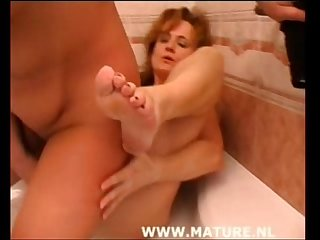 Hairy Ivana with huge dildos