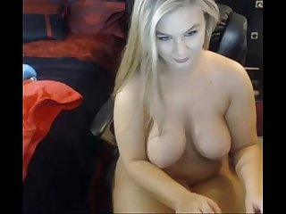 Hot Blonde with big boobs - Live on - www.69SexLive.com