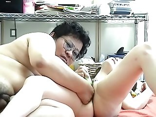 Student has to Endure Fat man's Cock