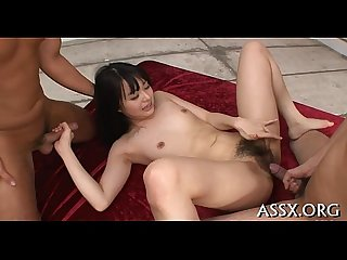 Asian ass fucking and fur pie toying
