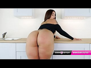 Priya Young has huge ass and wanks in the Babestation kitchen