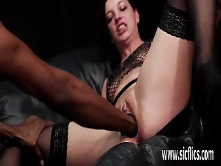 Interracial fist fucking and piss squirting orgasms