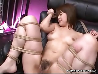 Submissive Japanese Girl In Asian BDSM Action With Multiple Masters And Vibrators