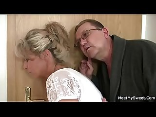 Horny mom and dad fucks their son's GF