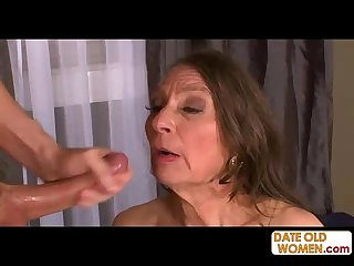 Nasty Grandmother with Hairy Pussy Fucked