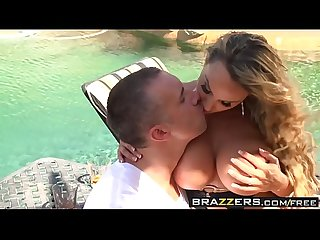 Brazzers - Mommy Got Boobs - Two Milfs One Cock scene starring Diamond Foxxx Holly Halston and Keira