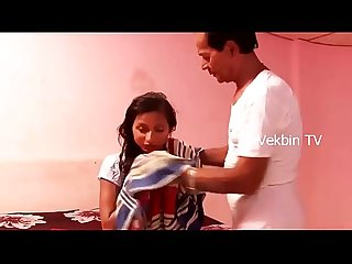 -Young Indian Girl Romance with Uncle in Bedroom -- Latest Hot Short Film 2017 HD..
