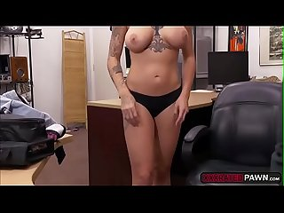Gorgeous tattooed babe Harlow Harrison sells herself to Shawn