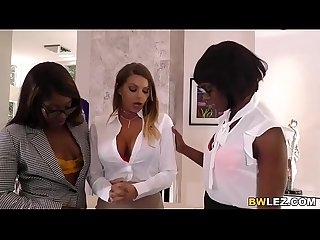 Interracial Lesbian Sex With Brooklyn Chase, Ana Foxxx & Skyler Nicole