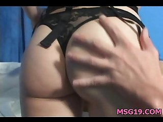Sexy 18 year old gets fucked from behind hard