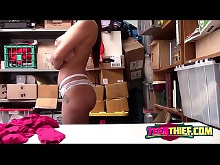 Sexy Teen Thief Karlee Grey Getting Stripped And Fucked In Storage Room