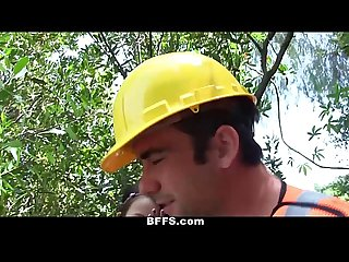 BFFS - Naked Teens Fuck Construction Worker