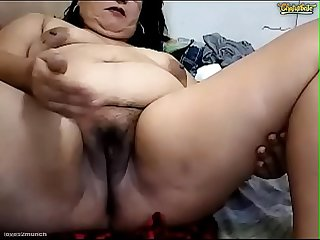 Dirty Pinay Granny Fingers Cunt Ass Squirts ATM Pees Vomits on Cam