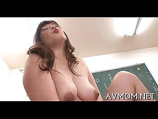 Milf takes on 2 excited men