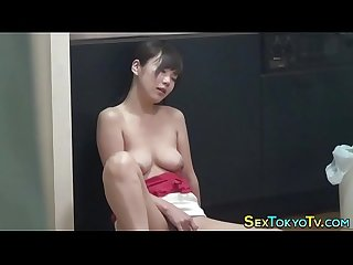 Hot asian touches herself