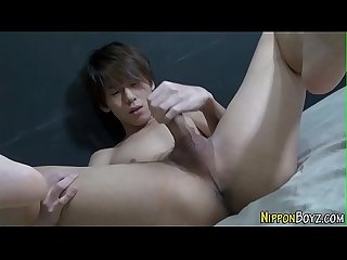 Asian twink solo stroking